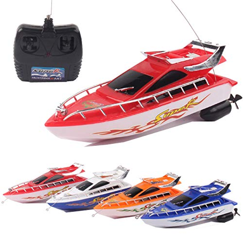 Latburg Remote Control Boat Rc Jet Fishing Speed Boat Electric Changeable Toy Battleship for Kids/Friends (1 pcs/Color Random)