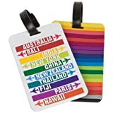 Travelon Set Of 2 Luggage Tags Hot Spots Assorted, Assorted, One Size