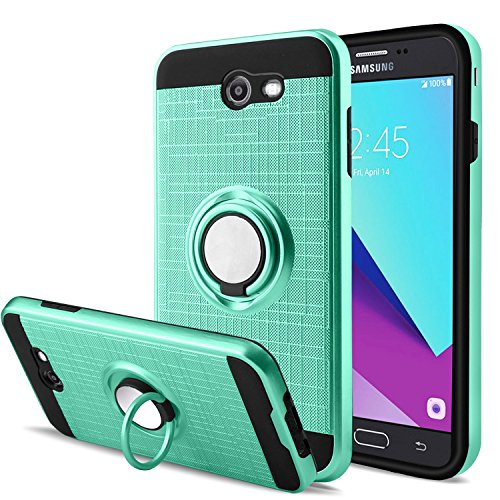 Galaxy J3 Emerge/J3 Mission/J3 Eclipse/J3 Luna Pro/Amp Prime 2/J3 Prime/Express Prime 2 Case with Screen Protector,AnoKe 360 Degree Rotating Ring Holder Kickstand for Galaxy J3 2017 ZS Mint