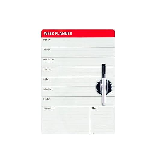 Balvi - Week Planner Pizarra magnética para Puerta de Nevera ...