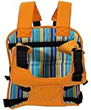 Baby Bucket Multi-Function Car Cushion Stripes Print Baby Carrier (Orange)