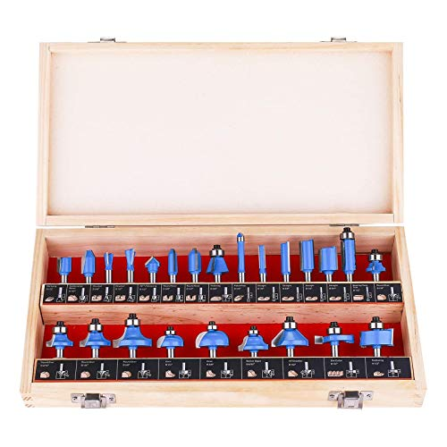 KOWOOD Router Bits Sets of 24A Pieces 1/4 Inch