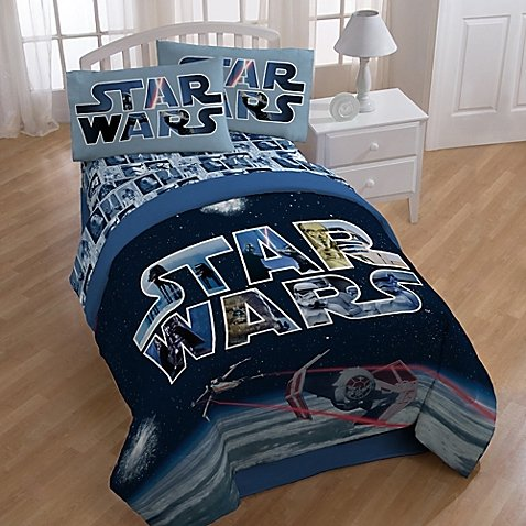 Star Wars Space Battle Comforter and Sheets 5pc Bedding Set (Full Size)