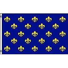 Fleur De Lis (Blue Multi) Flag 3x5ft Poly