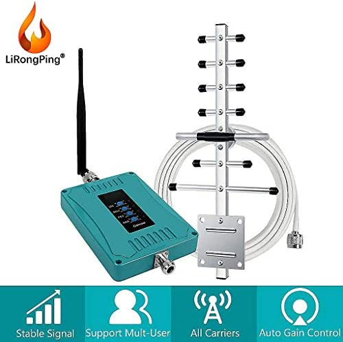 4G LTE AT&TVerizon 4G LTEデータ&音声コールホームアンプを向上させるための携帯電話の信号ブースター850分の700/1700 / 1900MHzの (Antenna : Yagi-Whip)