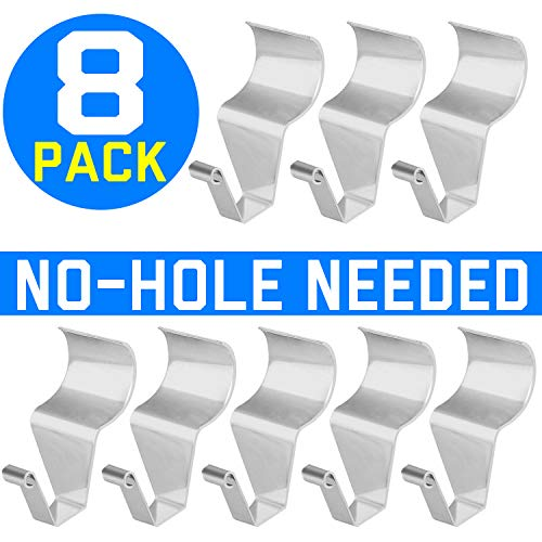 (Vinyl Siding Hooks for Hanging, Heavy Duty Light Mailbox Planter Hanger 8 Pack)