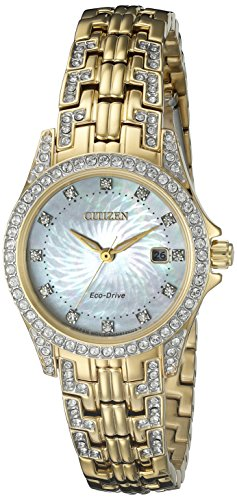 Citizen Women's Eco-Drive Watch with Crystal Accents, EW1222-84D