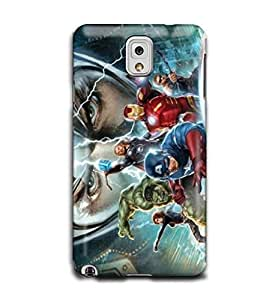 Tomhousomick Custom Design The Avengers Spider-Man Captain America The Hulk Thor Ant-Man Black Widow Iron Man Case Cover for Samsung Galaxy Note 3 N9000 III 2015 Hot Fashion Style