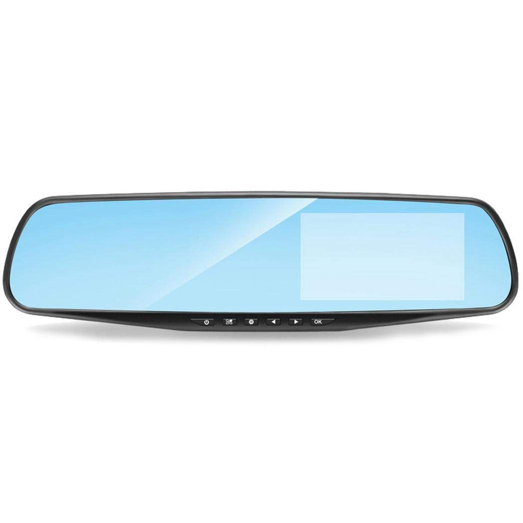 Xixini Dual Lens 4.3 Pulgadas Veh/ículo Grabador de conducci/ón Detecci/ón de Movimiento Coche DVR C/ámara 12.2x2.7x0.8inch