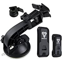 Armor-X Tablet and Cell Phone Bundle Suction Cup Mount - Compatible with ALL Tablets and ALL Cell Phones - Type M AND Type T Mounts