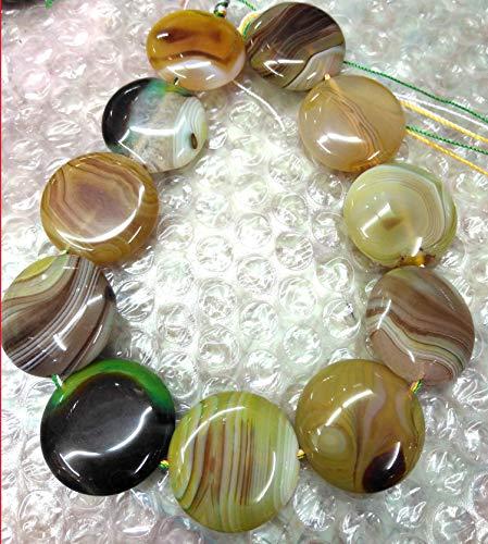(30mm Green Yellow Onyx red Agate Pendant Set -Oval Egg Onyx Black Veins Round Coin disc Pendant Freeform Slab Beads Full Strand 16