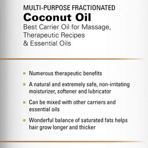 Majestic Pure Fractionated Coconut Oil, For Aromatherapy Relaxing Massage, Carrier Oil for Diluting Essential Oils, Hair & Skin Care Benefits, Moisturizer & Softener - Set of 2. by Majestic Pure (Image #6)