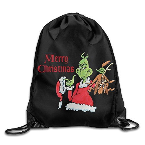 Grinch Costume Jim Carrey (Drawstring Backpack Bag How The Grinch Stole Christmas)