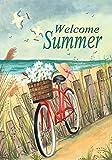 Toland Home Garden Beach Cruiser 12.5 x 18 Inch Decorative Welcome Summer Ocean Bicycle Garden Flag