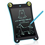 NEWYES Children's Board LCD Writing Tablet NYF850 8.5 Inch Frog Handwriting Tablet Graphic Drawing Board Digital Portable Magnetic Magnetic Durable Pads Kid's Gift Pad 1 Year Warranty (blue-frog)