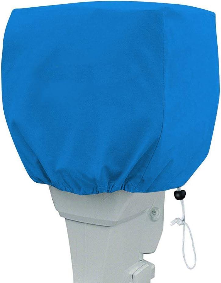 Color Azul LU2000 Cubierta Protectora para Motor Fuera de borda 210D Impermeable para Motor de Barco Cubierta de Motor