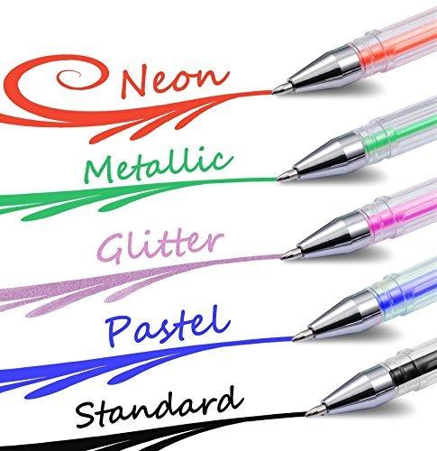 Gelmushta 72 Unique Colors (No Duplicates) Gel Pens Set for Adult Coloring Books with Case Photo #2