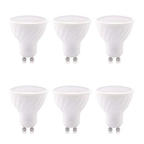 Bombillas LED GU10 7W Luz blanca cálida - Paquete de 3 ...