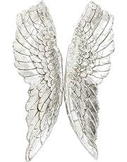 Kare Design väggdekoration ängel vingar, accessoarer, änglavingar, vingdekoration, silver, (H/B/T) 5 x 61 x 106 cm