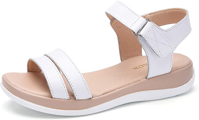 Womens Sandals Leather Velcro Girls