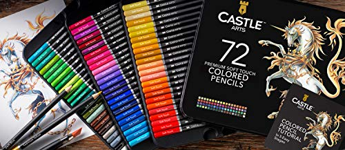 Castle Art Supplies 72 Premium Colored Pencils Set for Adults Artists | Ideal for Coloring Books Drawing Sketching… 3
