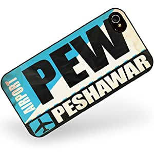 Rubber Case for iphone 4 4s Airportcode PEW Peshawar - Neonblond