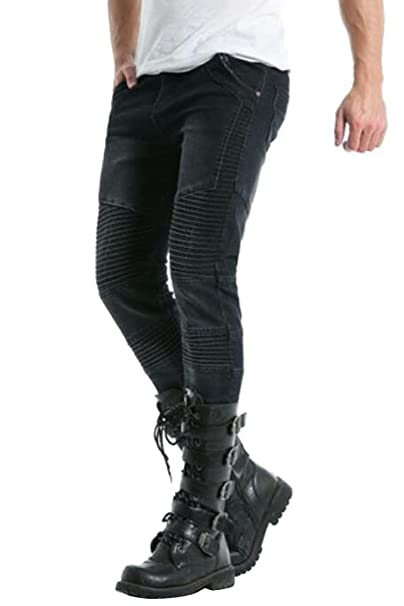 Amazon.com: sytx Mens Runway Ripped Distressed Skinny Moto ...