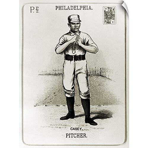 (CANVAS ON DEMAND Dan Casey Baseball Card from The 1888 Season of The Philadelphia Phillies Wall Peel Art Print.)