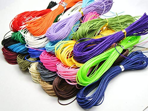 - FidgetGear 200 Meters Waxed Polyester Twisted Cord String Thread Line 1mm 20 Color