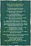 Anyway Paradoxical Commandments Green Kent Keith Motivational Poster 12x18