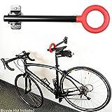 New Single Bike Bicycle Wall Mount Folding Rack Seat Hanger...
