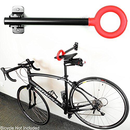New Single Bike Bicycle Wall Mount Folding Rack Seat Hanger Storage Stand Hook ! by Polarbear's Cycling