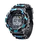 Hot Sale !Siviki Men Fashion LED Digital Alarm Date Rubber Army Watch Waterproof Sport Wristwatch