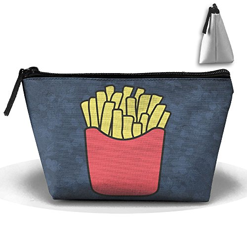 Trapezoidal Bag Makeup Bag French Fries Storage Portable Travel Wash Tote Zipper Wallet Handbag Carry Case