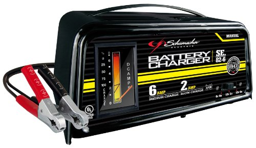 6 Dual Rate Manual - Schumacher SE-82-6 Dual-Rate 2/6 Amp Manual Battery Charger