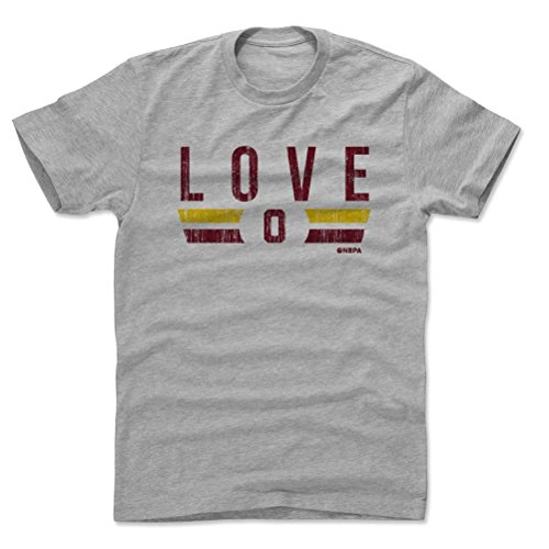 500 LEVEL Kevin Love Cotton Shirt Small Heather Gray - Vintage Cleveland Basketball Men's Apparel - Kevin Love Cleveland Font R