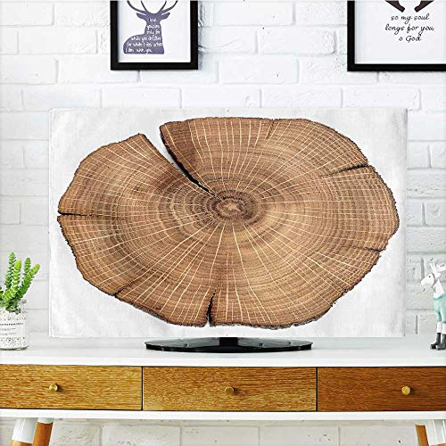 Price comparison product image Philiphome Cord Cover for Wall Mounted tv Cracked Oak Split Isolated Cover Mounted tv W32 x H51 INCH/TV 55""