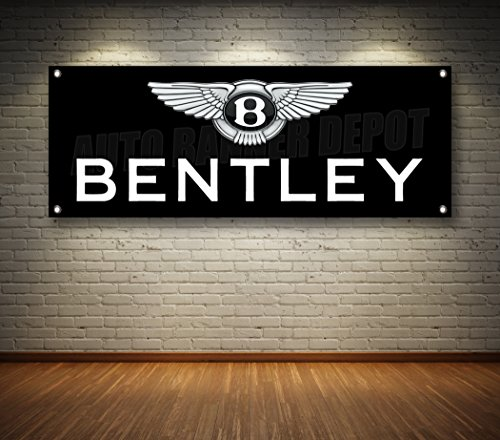 BENTLEY AUTO DEALER 1-SIDED BANNER SIGN 14oz VINYL -- MULTIPLE SIZES & STYLES (Black, 18'' x 48'') by Auto Banner Depot