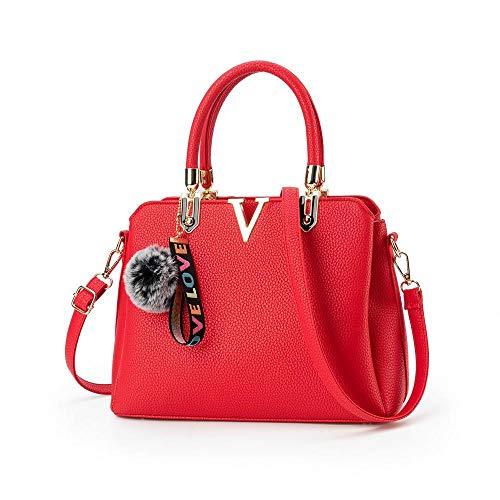 Mode 11 23cm Diagonal Femmes Sac DW La Main Red à ANLEI Sac à Couleurs Paquet PU 2118 32 bandoulière 5 WfqUB8WTcw