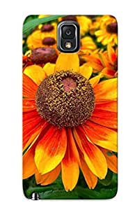 LJF phone case Design High Impact Dirt/shock Proof Case Cover For Galaxy Note 3 (nature Flowers Colors )