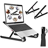Laptop Stand, Portable Laptop Stand, Foldable Desktop Notebook Holder Mount, Adjustable Eye-Level Ergonomic Design, Portable Laptop Riser for MacBook, Notebook Computer PC iPad Tablet EURPMASK (BL)