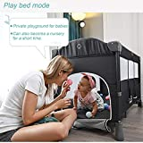 Baby Beside Sleeper Bassinet, Sleeper Bed Side Crib for Baby Include Sheet Mattress, Diaper Changer,Hanging Diaper Caddy - Keep Baby Beside Your Bed - Multifunction Baby Bed