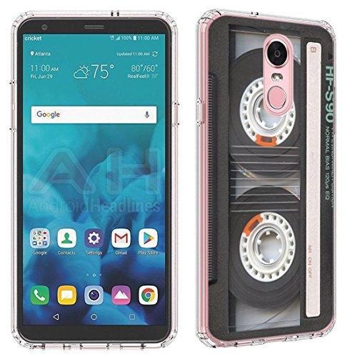 LG Stylo 4 Case [Cassette Tape](Clear) PaletteShield Flexible Slim TPU skin phone cover (fit LG Stylo 4/Q Stylus)