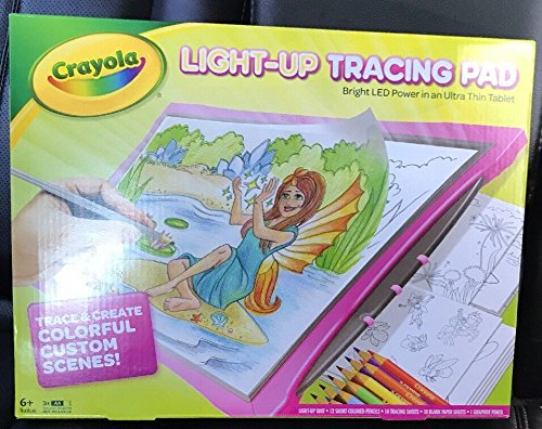 NEWEST MODEL Crayola Light Up Tracing Pad - PINK - BRIGHT LED POWER in an Ultra Thin Tablet