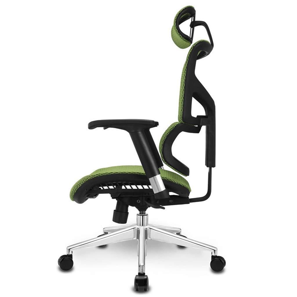 Aoyo stolar hem dator stol kontorsstol, ergonomisk stol spelstol, chef stol svängbar stol kontorsmöbler (färg: svart) Grått