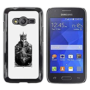 Caucho caso de Shell duro de la cubierta de accesorios de protección BY RAYDREAMMM - Samsung Galaxy Ace 4 G313 SM-G313F - Card Skull Poster Poker Death