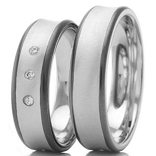 Anillos de boda 585 / - oro blanco gris oro B-48-06315-
