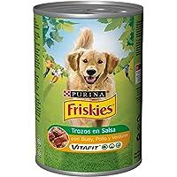 Purina - Friskies Trozos en Salsa Perro Adulto Buey, Pollo y Verduras 12 x 1,2 Kg
