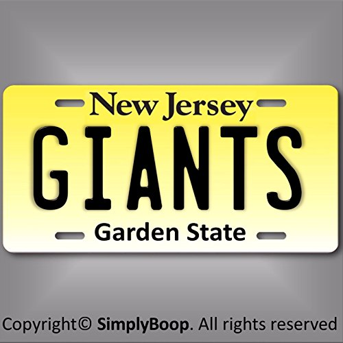 Forever Signs Of Scottsdale New Jersey New York Giants NFL NFC East Team Aluminum License Plate Tag New