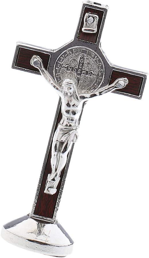 magideal Legierung Kreuz Kruzifix Jesus Christus Statue Figur Perfekte Geschenke f/ür Car Home CHAPEL Dekoration Silber